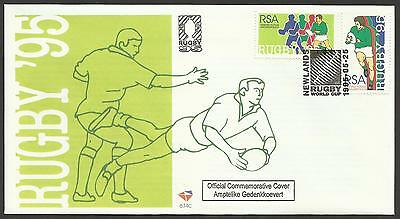 SOUTH AFRICA 1995 RUGBY WORLD CUP Two Values FIRST DAY COVER