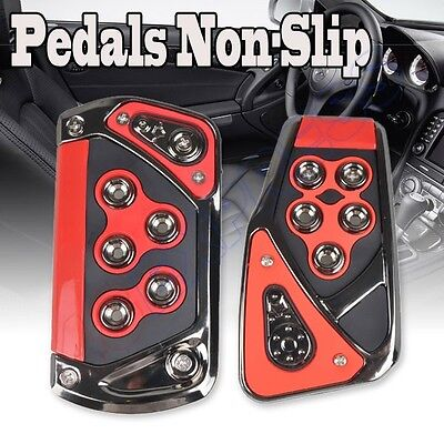 Universal Automatic Car Non-Slip Pedal Series Red-Black Pedal Pads Foot Treadle