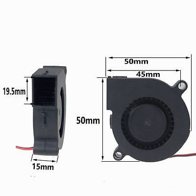 Free shipping 1pcs 2 Wire 5015S 50 x15mm DC 12V Brushless Blower Cooling Fan