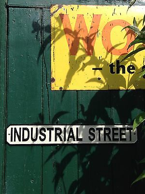 Cast Iron Industrial Street ~ Sign