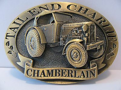 Chamberlain Tail End Charlie Tractor 1996 Belt Buckle Australia LtdEd John Deere