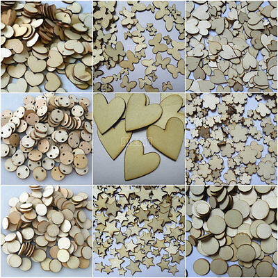 Mini Wooden Tags Pieces For Party Wedding Embellishments Cardmaking Scrapbooking