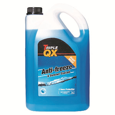 Triple QX 5L Blue AntiFreeze Summer Coolant 5 Litre / Ltr Ready Mix