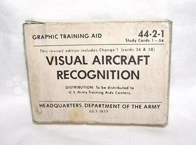 1 DECK VISUAL AIRCRAFT RECOGNITION CARDS UNUSED #44-2-1 U.S.G.I MIL, VG COND