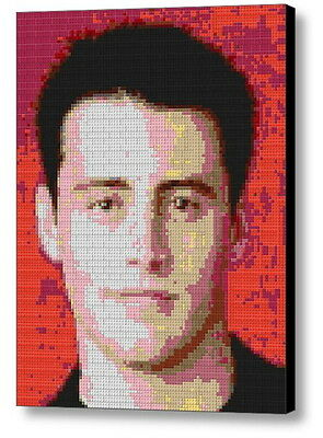 Friends TV Show Joey Lego Brick Framed Mosaic Limited Edition Poster Art Print