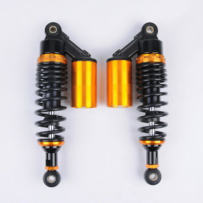 "WO 11"" 280mm Eye to Eye Pair Shock Absorbers Scooter Bike Moped ATV Black"