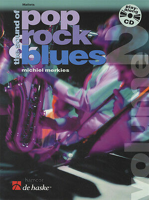 The Sound of Pop Rock Blues for Mallet Volume 2 Sheet Music Play-Along Book/CD