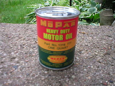MOPAR HEAVY DUTY MOTOR OIL CAN BANK Paper Label