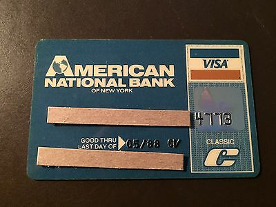 American National Bank of New York 1988 Vintage Visa Collectors Credit Card