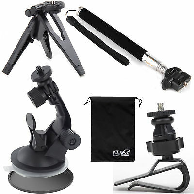 EEEKit for Sports Action Camera,Stick Pole/Tripod/Car Suction Cup/Visor Mount