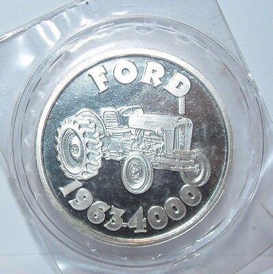 Ford 4000 1963 Farm Tractor .999 Pure Fine Silver Round 1 Troy Oz Collector Coin