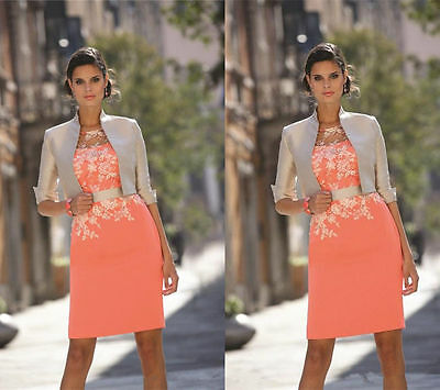 Lace Mother of The Bride Dress With Jacket For Wedding Party Formal Outfits New