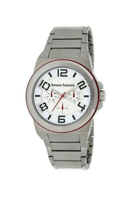 Bruno Banani Zelos Gents Herrenuhr ZL4000100 Analog Multifunktion Edelstahl Silb