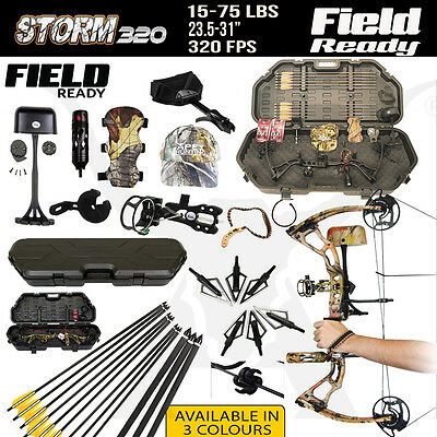 FIELD READY 15-75 Lbs Storm320 Compound Bow for Archery Hunting