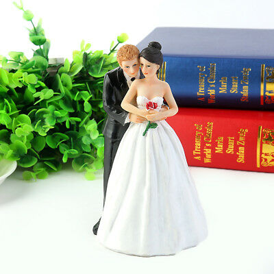 Embracing Wedding Bride and Groom Cake Toppers Romantic Couple Favors Decor