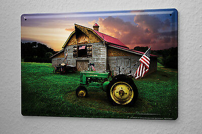 Decorative Tin Sign Tractor Garages old tractor barn America