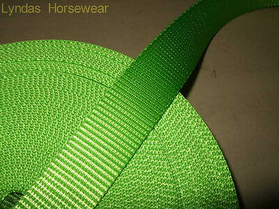 FIVE Metres Hi Viz Webbing GREEN, ORANGE, PINK, YELLOW 25mm wide