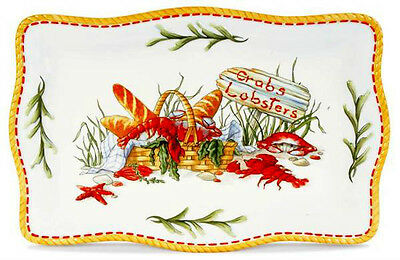 """clambake"" Platter By Fitz And Floyd - From Clambake Collection"