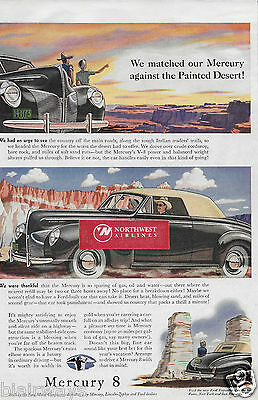 Mercury Ford Motor Company Mercury 8 Convertible 1940 Painted Desert Ad