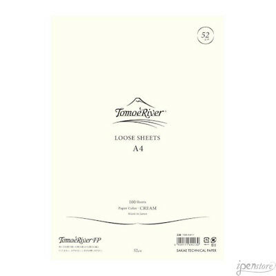 "Tomoe River A4 (8-1/4"" x 11-3/4"") Loose Sheets (100), Cream"
