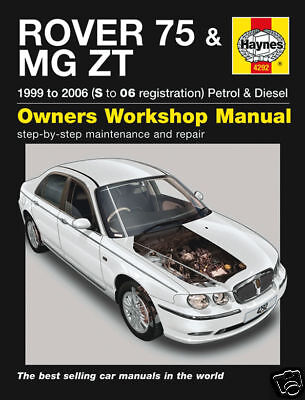Manuale Haynes Rover 75 MG ZT Benzina Diesel 1999-2006 (4292) NUOVO