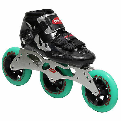Size 10.5 Inline Speed Skates TruRev w/ 105mm or 110mm wheels Inlineskating-Artikel