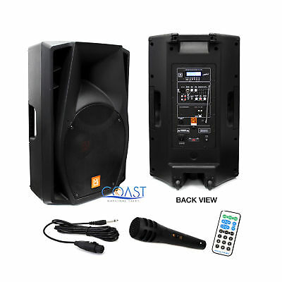 "Mr Dj PM-2880BAT 15"" 3500W Bluetooth Battery Radio Speaker + Microphone & Remote"