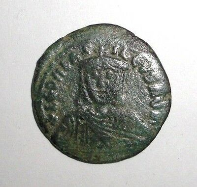 Ancient Byzantine Empire, Leo VI the Wise AE Follis, Constantinople 886 - 912 AD