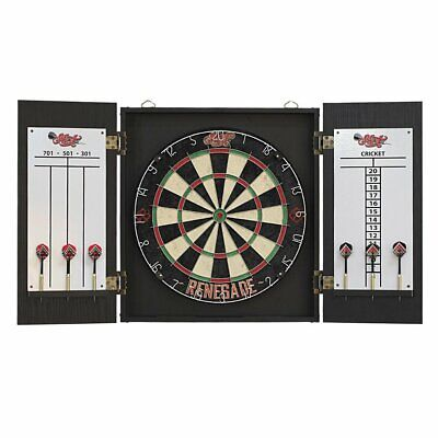 Jim Beam Bourbon Sisal Dart Board & Cabinet SET Man Cave Fathers Day Gift SALE