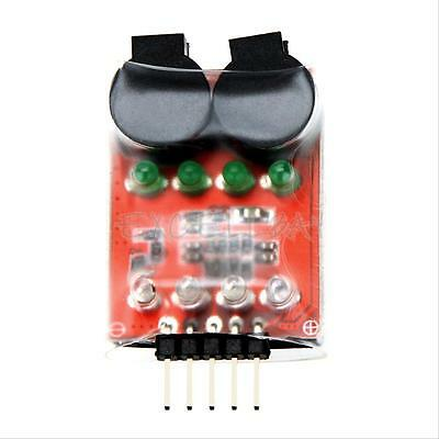 New Practical 2S-4S Lipo Battery Dual Speaker Tester Low Voltage Buzzer Alarm
