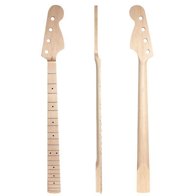 Neck Maple 21 Fret Clear Satin For Electric Bass Guitar Parts replacement