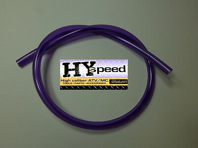 "HYspeed PVC Fuel Gas Line 5/16"" ID X 7/16"" OD 3' Solid Purple Motorcycle ATV"