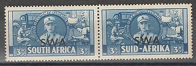 South West Africa 1941 War 3D Pair Variety Cigarette Flaw  Mnh **