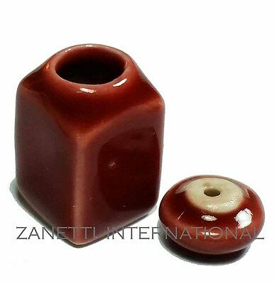 Dollhouse Miniature Ceramic Canister Cookie Jar * Doll Mini Food Container Box