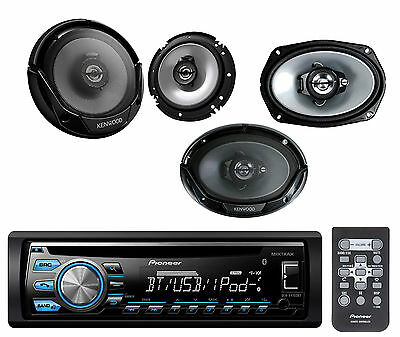 "Kenwood 6x9"" and 6.5"" Car Speakers, Bluetooth AUX USB CD AUX AM FM Car Receiver"
