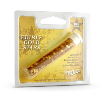 Rainbow Dust Essbare Lebensmittel-Form Kuchen Dekoration Gold Stars Sprinkles Eu
