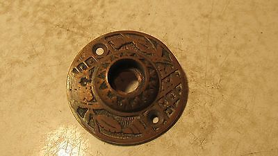 Antique Cast Brass Eastlake Round Door Plate No. 5