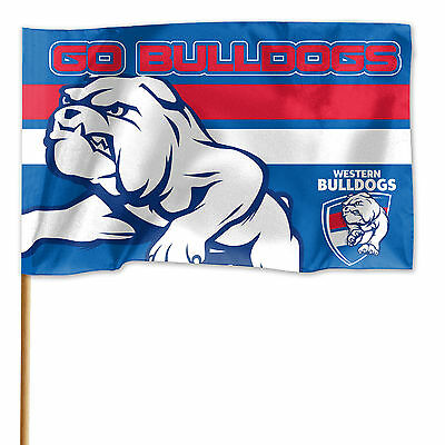 NEW 2016 AFL Western Bulldogs GAME DAY Pole Flag Banner Fathers Day Man Cave