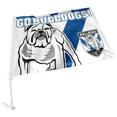 Licensed NRL Canterbury Bulldogs CAR Window Pole Flag Fathers Day Man Cave GIFT