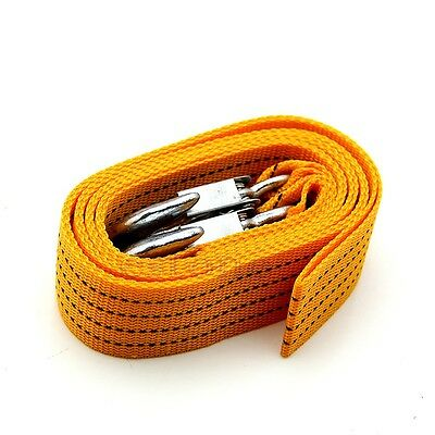 Hot 3 Tons 3M Heavy Duty Car Tow Rope Cable Towing Strap with Hooks Emergency