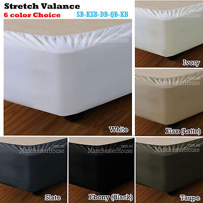 Stretch Snuggle Fit Bed Valance Wrap SINGLE King Single Double Queen King