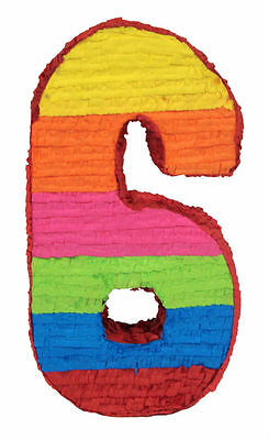 Number 6 Birthday Age Pinata Birthday Or Party Game/ Decoration