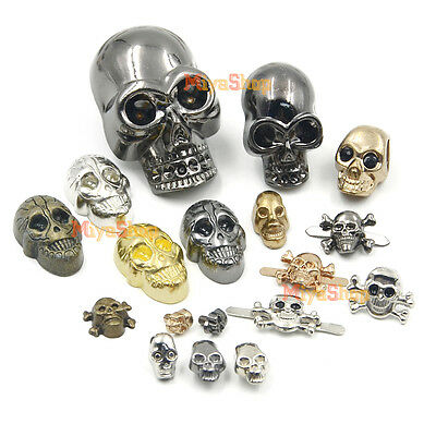 10/50/100pcs Skull Spikes Rivet Studs Spots 9 Kinds of Screwback Clips Rock DIY