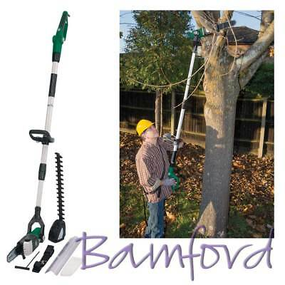 Draper Long Reach Electric Polesaw & Hedge Trimmer Garden Power Tools 230V 800W