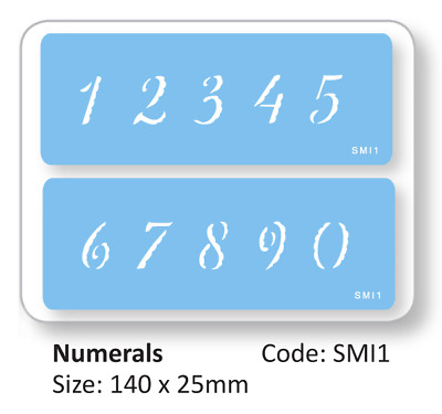 JEM 2 Set NUMERALS NUMBERS Cake Decorating Stencil Sugarcraft Decoration Baking