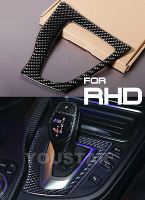 RHD 3D GENUINE CARBON Gloss Black Gear Surround Dash Trim for BMW 3 4 Series CS4
