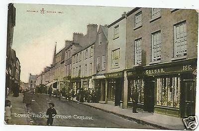 irish postcard ireland carlow lower tullow street