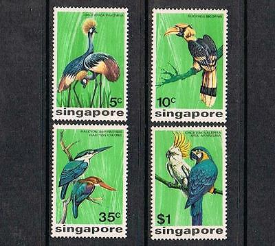 STAMPS  from  SINGAPORE   1975 BIRDS    (MINT HINGED)  lot A45