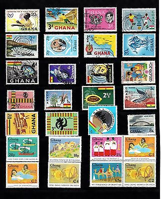 GHANA STAMP Collection  majority 1960s 70s Mint Used REF:QA502