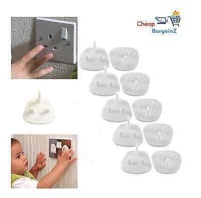 10x CHILD BABY SAFETY PLUG COVERS 13 AMP SOCKET PROTECTOR GUARD FOR HOMES OFFICE
